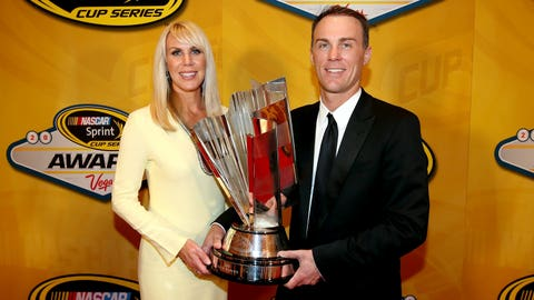Happy times: Harvick's championship season