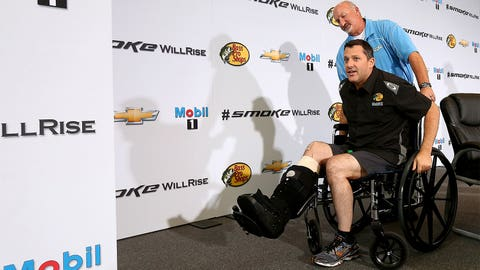 1. Will Tony Stewart's right leg ever allow him to be great again?