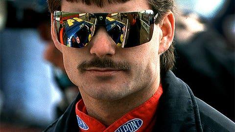 Jeff Gordon's mustache/mullet combo