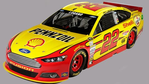 Joey Logano's 2015 Sprint Cup paint schemes