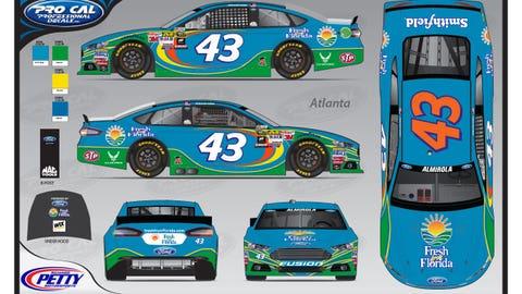 Aric Almirola's 2015 Sprint Cup paint schemes