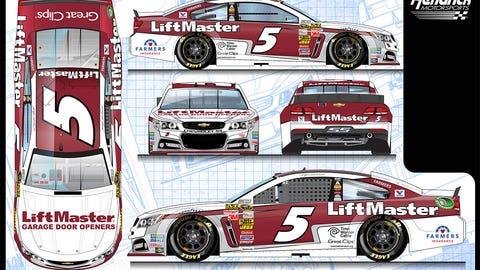 Kasey Kahne's 2015 Sprint Cup paint schemes