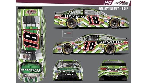 Kyle Busch's 2015 Sprint Cup paint schemes