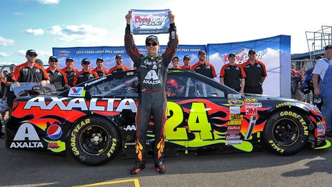 3. Michigan International Speedway, Jeff Gordon, 206.558 mph, Aug. 17, 2014