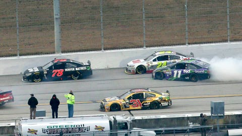 Photos: Carnage at the end of a calm Atlanta Motor Speedway race