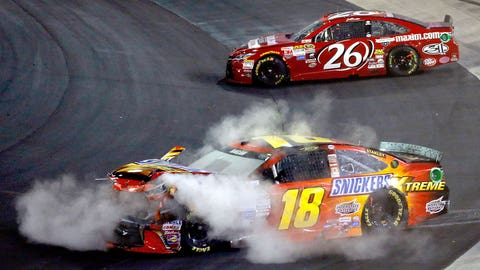 Bristol Bash: Big names can't escape wrecks on the short track