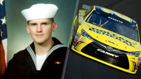 Navy Hospital Corpsman 3rd Class James R. Layton/No. 20 Joe Gibbs Racing Toyota of Matt Kenseth