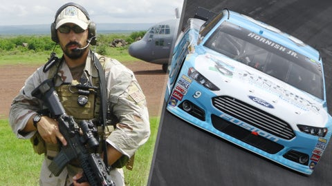 Air Force Capt. Jeremy Fresques/No. 9 Richard Petty Motorsports Ford of Sam Hornish Jr.