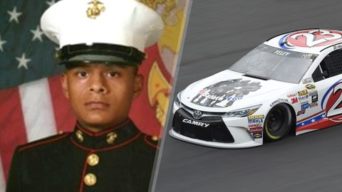 Marine Cpl. Jose A. Hernandez/No. 23 BK Racing Toyota of J.J. Yeley