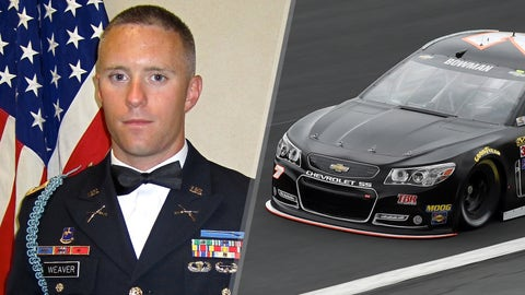 Army 1st Lt. Todd Weaver/No. 7 Tommy Baldwin Racing Chevrolet of Alex Bowman