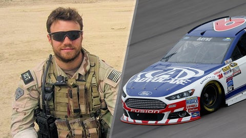 Air Force Staff Sgt. Casey Crate/No. 6 Roush Fenway Racing Ford of Trevor Bayne
