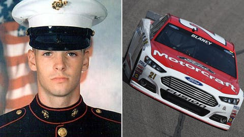 Marine Cpl. Jonathan Bowling/No. 21 Wood Brothers Racing Ford of Ryan Blaney