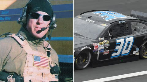 Navy Chief Petty Officer Jason Ray Workman/No. 30 car of Jeff Green