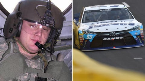 Army Sgt. Bryan Brewster/No. 55 Michael Waltrip Racing Toyota of David Ragan