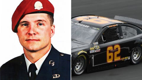 Air Force Technial Sgt. John Chapman/No. 62 car of Brendan Gaughan