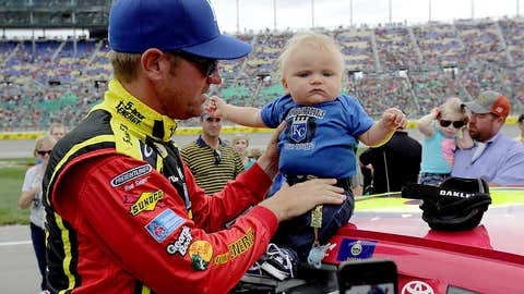 Daddy time: NASCAR drivers with their children