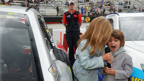Jeff Gordon's kids give the command to fire engines