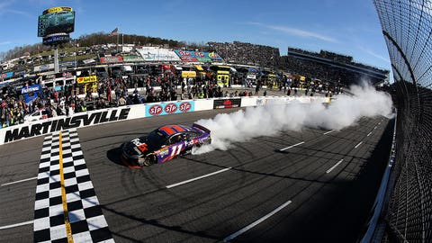 Denny Hamlin's hometown burnout