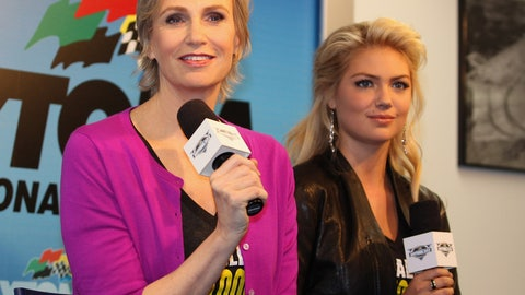 Jane Lynch and Kate Upton