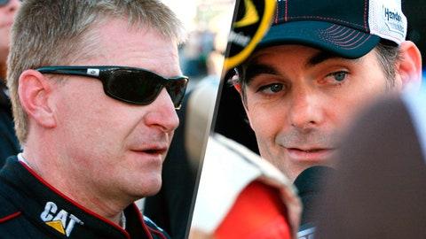 Jeff Burton and Jeff Gordon