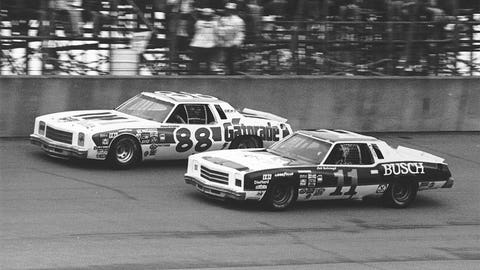Darrell Waltrip and Cale Yarborough