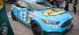 Aric Almirola, sponsor Eckrich present car to military family