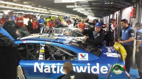 Sights & Sounds: A soggy start to the day at Charlotte Motor Speedway
