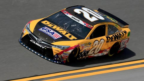 Limited variety: The few paint schemes carried by Matt Kenseth in 2015
