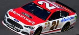 Ryan Blaney ran a limited schedule, but the No. 21 had multiple schemes