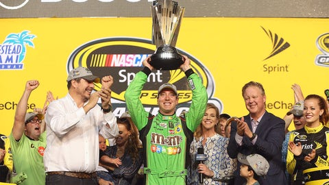 22. Kyle Busch breaks leg at Daytona, takes title at Homestead