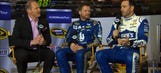 Junior, Danica, 'Smoke', Harvick, Johnson interviewed by 'Race Hub'