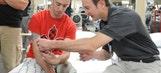 NASCAR Stars Visit Veterans At Walter Reed Army Medical Center