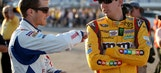 Rowdy pays up: Kyle Busch sports Seattle Seahawks gear at Speedweeks