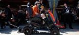Scootin' along: Tony Stewart donates custom scooter to Darrell Gwynn Foundation