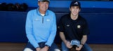NASCAR Nation meets Chop Nation: Waltrip, Elliott take in a Braves game