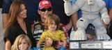 Gordon's son has adorable reaction to Larson winning NASCAR ROY