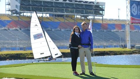NASCAR and golf stars hit Daytona International Speedway for charity