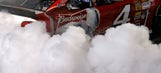 Hot tires in Hotlanta: Harvick does burnout in downtown ATL