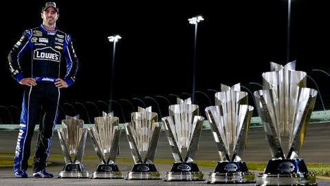 Still shorter: The line of Jimmie Johnson's trophies