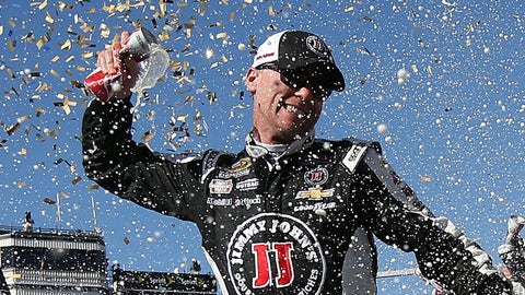 Still shorter: Time Kevin Harvick's spent sweeping up his confetti