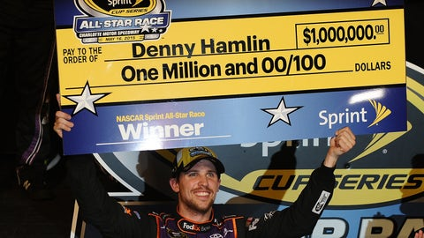 Still shorter: Time Denny Hamlin's spent counting the zeros