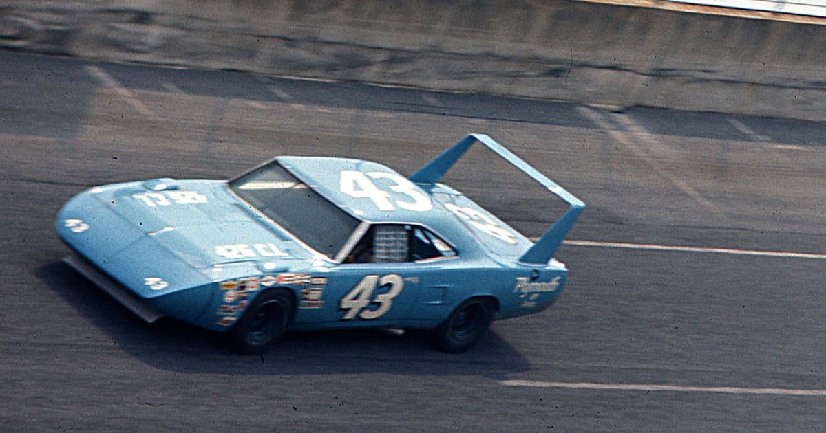 18881a5c4 Take a ride in Richard Petty s 1970 Plymouth Superbird