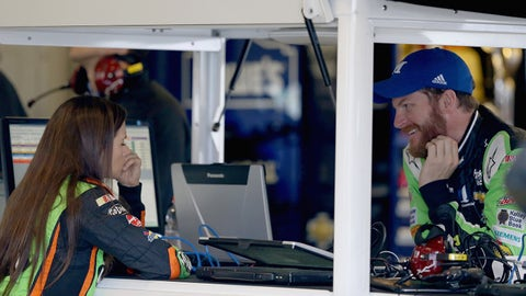 Are things cool between Dale Earnhardt Jr. and Danica Patrick?