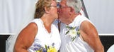 NASCAR fans renew wedding vows at MIS on 50th anniversary