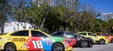 NASCAR-themed Uber cars take over Miami