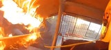 Hot Lap: Dirt Modified Driver Escapes Burning Race Car