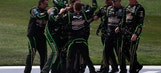 Kyle Busch gets to the front, pit crew saves the day, and a big celebration