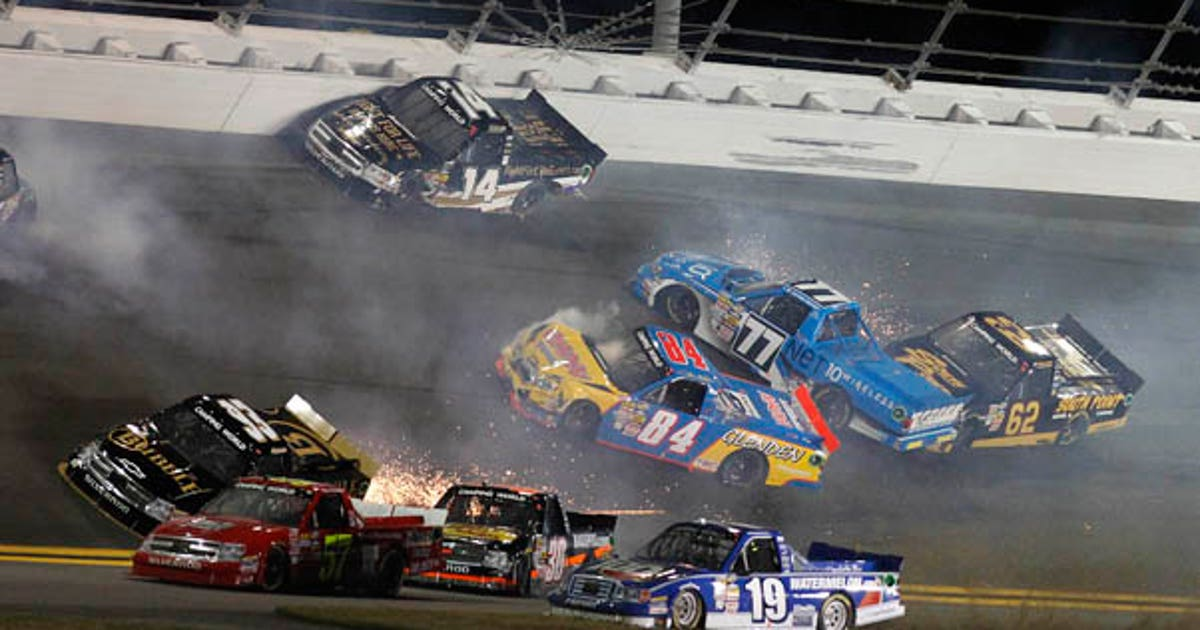 Daytona Trucks Crashes Frame By Frame Fox Sports