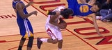 Steph Curry goes down with serious looking injury