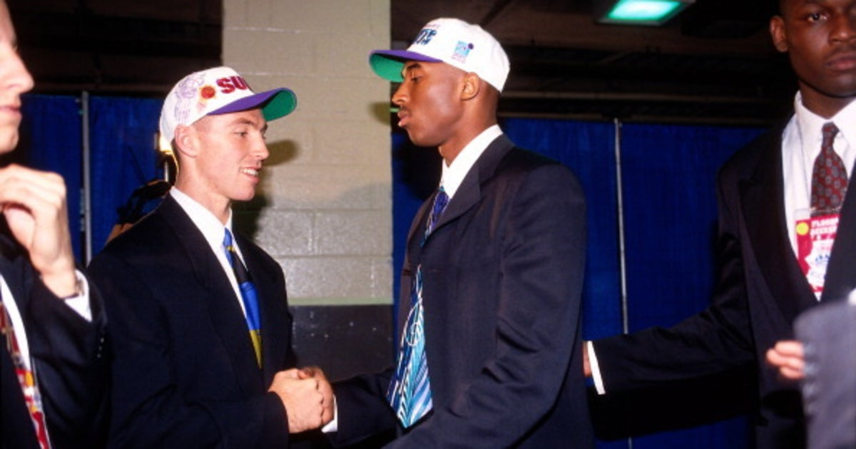 save off 53e4c b1ee5 How Kobe Bryant manipulated his way to Lakers on draft day ...